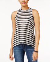 Almost Famous Juniors' Striped Mock-Turtleneck Top