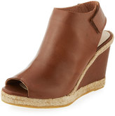 Andre Assous Beatrice Leather Wedge Sandal, Cuero