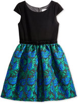 Blush by Us Angels Blush Velvet Brocade Special Occasion Dress, Big Girls (7-16)