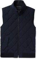 Ermenegildo Zegna - Water-resistant Quilted Trofeo Wool Down Gilet