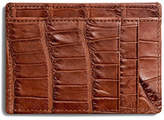 Shinola Alligator Six-Pocket Card Case