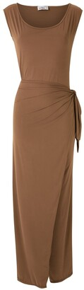 AMIR SLAMA Tied Maxi Dress