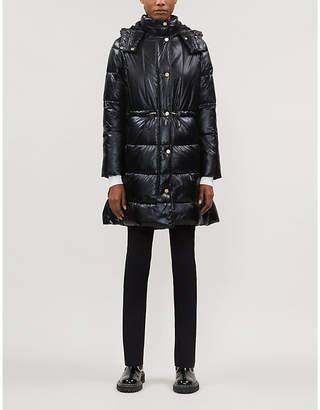 Armani Exchange Caban shiny shell puffer coat