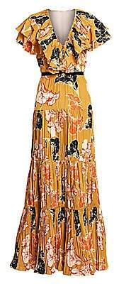 Johanna Ortiz Women's Ruffle Floral Maxi Dress
