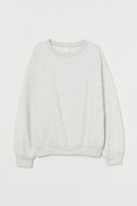 H&M Cotton-blend Sweatshirt - Gray