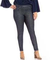 Peter Nygard Nygard Slims Plus Luxe Denim Foil Coated Jeggings