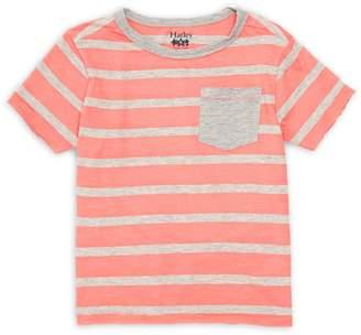 Hatley Little Boy's Coral Stripes Pocket Tee