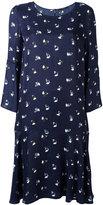 Odeeh floral print shift dress - women - Silk/Polyamide/Acetate/Viscose - 42