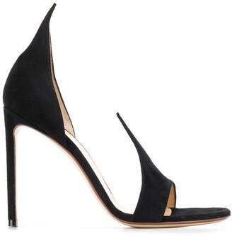 Francesco Russo Open Toe Slip-On Sandals