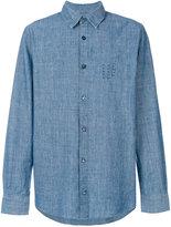 A.P.C. lace-up buttoned shirt - men - Cotton - S