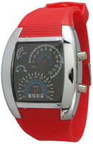 Olivia Pratt Mens Red Silicone Digital Watch 8144Red Family