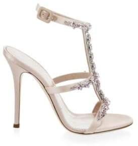 Giuseppe Zanotti Alien Embellished T-Strap Sandals