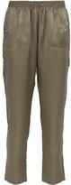 Eres Silk-jacquard Pajama Pants - Army green