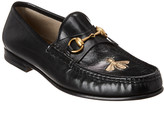 Gucci Horsebit Leather Loafer With Bee