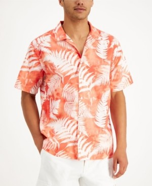 Sun + Stone Men's Fern-Print Tie-Dye Shirt, Created for Macy's