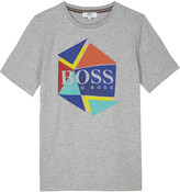 BOSS Logo print cotton T-shirt 4-16 years