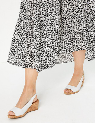 Marks and Spencer Leather Open Toe Slingback Sandals