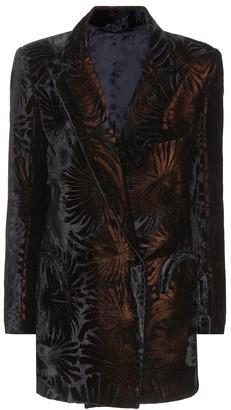 BLAZÉ MILANO Everyday flocked velvet blazer