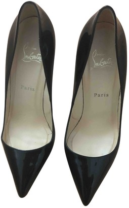 Christian Louboutin Pigalle Plato Black Patent leather Heels