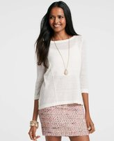 Ann Taylor Stitched A-Line Sweater