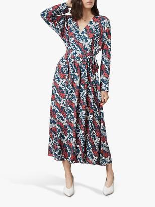 Morgan Finery Ripple Print Wrap Dress, Multi