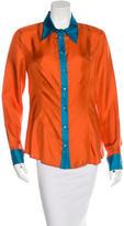 Prada Silk Button-Up Top w/ Tags