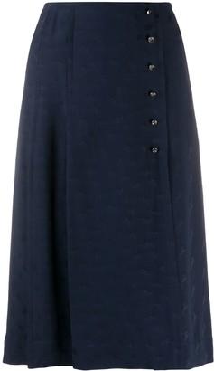 Chloé Flou jacquard kilt skirt