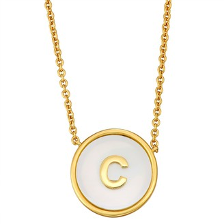 Mother of Pearl Initial Pendant Necklace