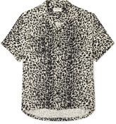 Saint Laurent - Camp-collar Leopard-print Brushed-twill Shirt