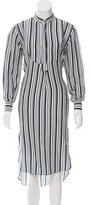 Apiece Apart Linen & Silk-Blend Striped Dress w/ Tags