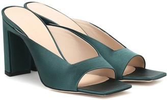 Wandler Isa satin sandals