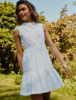 Forever New Billie Shirt Smock Dress - Porcelain - 16