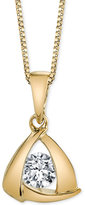 Sirena Diamond Triangle Pendant Necklace (1/5 ct. t.w.) in 14k Gold or White Gold
