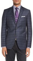 David Donahue 'Connor' Classic Fit Plaid Wool Sport Coat