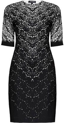 Rumour London Printed Lace Monochrome Fitted Dress