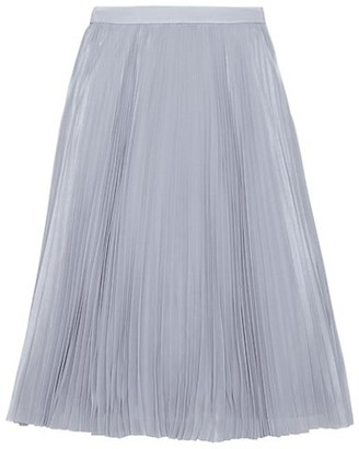 Kate Spade Sparkle Chiffon Pleated Midi Skirt