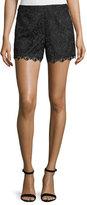 Alice + Olivia Amaris High-Waist Lace Shorts