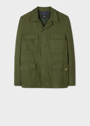 Men's Green Cotton Field Jacket