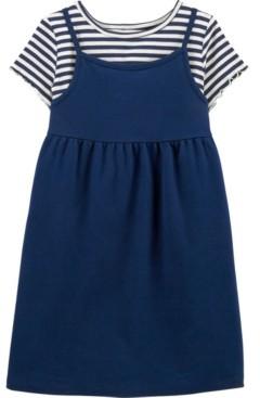 Carter's Little & Big Girls 2 Piece Striped Tee Dress Set