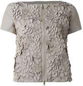 Herno floral appliqué shortsleeved jacket