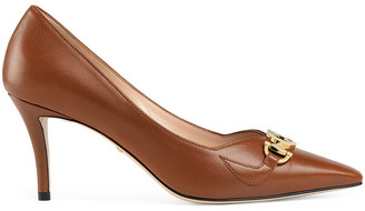Gucci Low Heel Pumps in Brown Papaya | FWRD