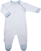 Kushies Blue Stripe Zip-Up Footie - Infant