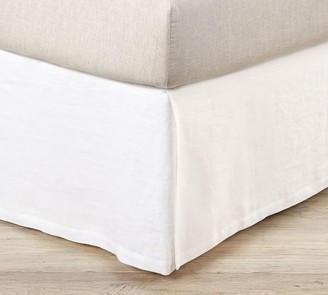 Pottery Barn Belgian Flax Linen Box Spring Cover