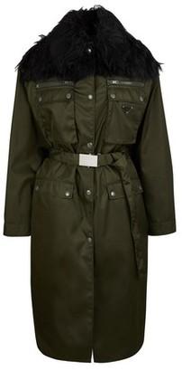 Prada Long coat with fake fur
