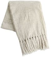 Pier 1 Imports Ivory Chenille Throw