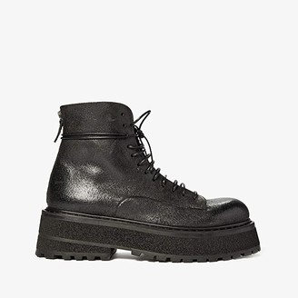 Marsèll Tech Sole Calf Combat Boot (Black) Men's Shoes