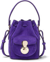 Ralph Lauren Suede Micro Ricky Drawstring