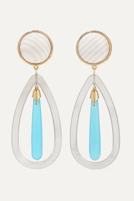 GUITA M 18-karat Gold Multi-stone Earrings