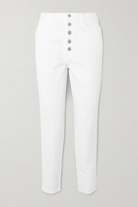 J Brand Heather High-rise Straight-leg Jeans - White