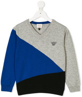 Armani Junior geometric sweater